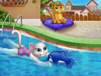 Angela Swimming Pool Girl Games Baby Games
