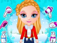 Baby Barbie Winter Braids