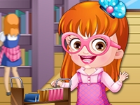 Baby Hazel Librarian Dressup