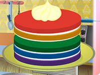 Cooking Rainbow Cake