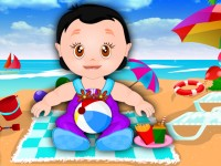 Cute Baby On The Beach