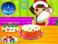 Dora Cooking Christmas Cake