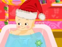 Elsa Baby Bathing Santa