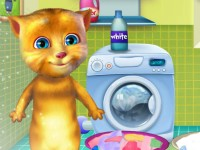 Ginger Washing Clothes