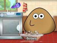 Pou Washing Dishes
