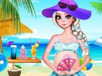 Pregnant Elsa Beach Day