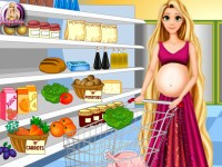 Pregnant Rapunzel Food Shopping