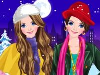 Twin Sisters Winter Fashion